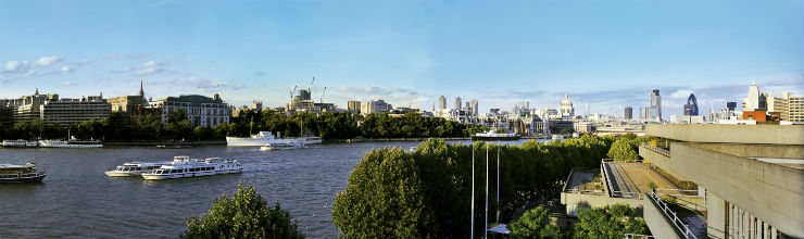 View of the Thames from The Deck by day